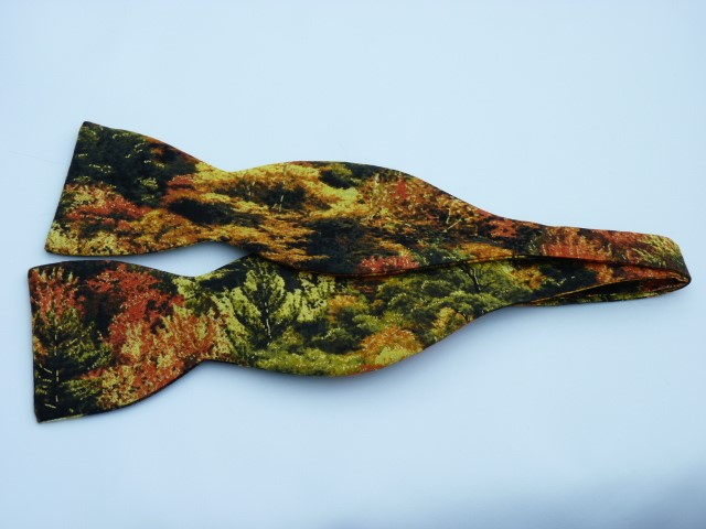 Autumn Trees Self Tie Bow Tie