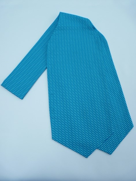 Aqua Wave Self Tie Day Cravat