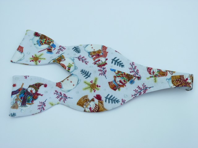 Snowmen Family Self Tie Bow Tie