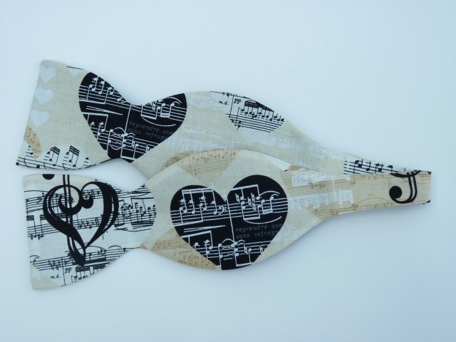 Love of Music Self Tie Bow Tie
